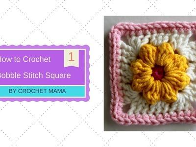 How to Crochet Bobble Flower Granny Square