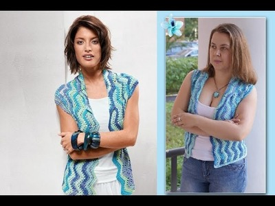 How to crochet jacket bolero shrug  for woman free pattern
