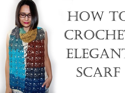 How To Crochet Scarf Tutorial