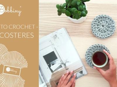 How to crochet tea coasters - Bobbiny