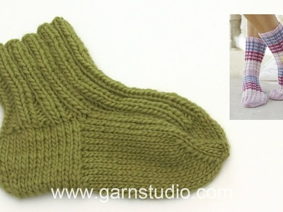 How to knit an old-fashioned heel on a sock