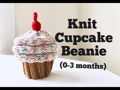 How to Knit Cupcake Beanie (0-3 months)