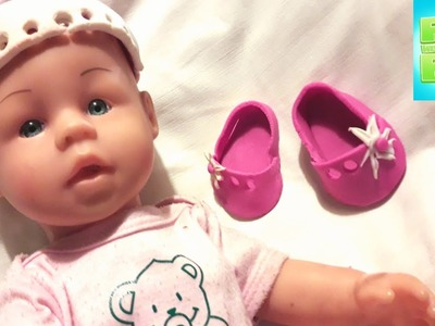 How to make a Baby Shoes and a Baby Hat from Play Doh. DIY. Tutorial video for kids.