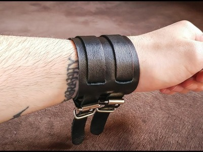 How To Make a cool leather BRACELET