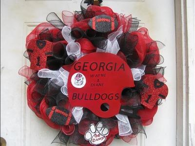How To Make A Georgia Bulldog Helmet Wreath!