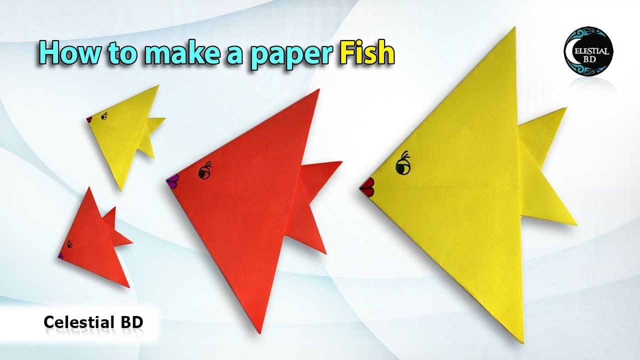 how to make a paper fish origami fish paper fish fish