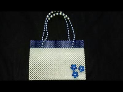 How to make a pearl beaded  bag.((পুতির ব্যাগ))
