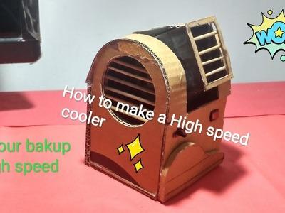 How to make a Powerful Mini Air cooler from cardboard | DIY Air Cooler | Tech Toyz Videos