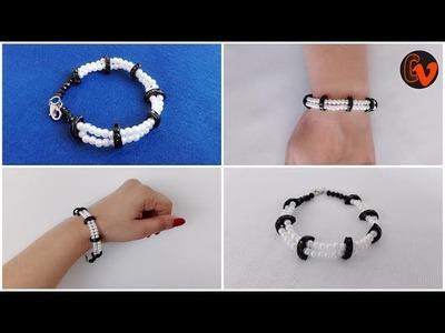 How to make Beaded Bracelet Tutorial. Design 6