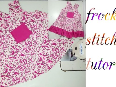How to make frock for kids. girl | stylish frock stitching tutorial