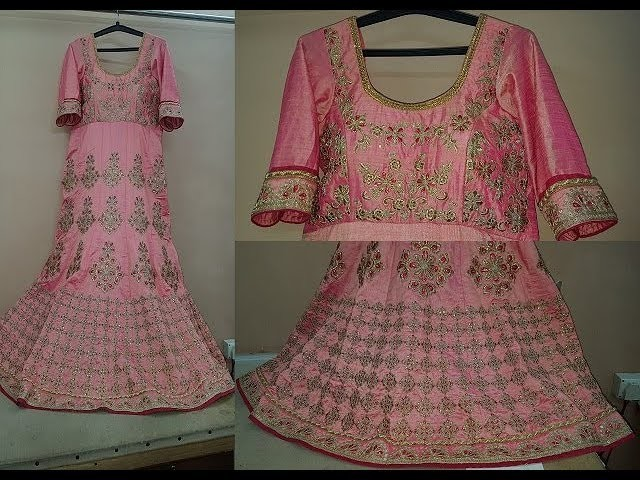 How to Make Gown From Readymade Lehenga Stitching Video
