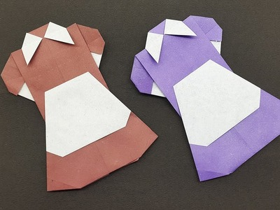 How to make Origami Dresses - Paper Crafts wedding dress