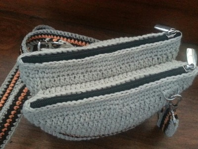 Part 1   How to Crochet The Double Purse With Zipper