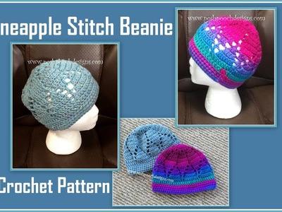Pineapple Stitch Beanie Crochet Pattern