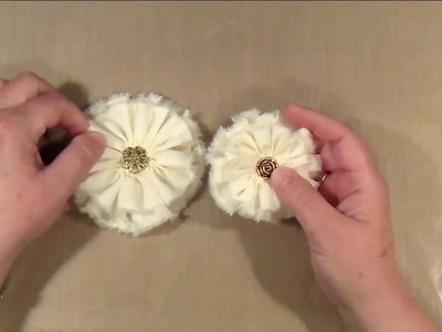 Shabby Chic Fabric Flowers How-to