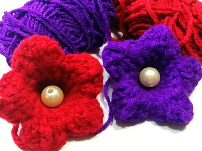 কুশিকাটার ফুল.How to make crochet flower.crochet craft