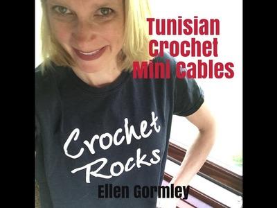 Tunisian Crochet Mini Cable, Vertical Ribbing