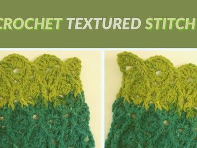 Unique crochet textured stitch 1