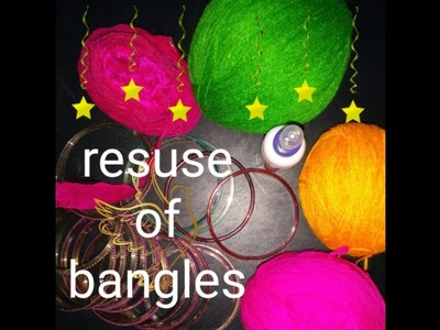 Best use out of waste.DIY crrativity beyond confines.resuse Of bangles