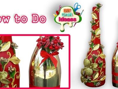 Bottle Craft # Wine Bottle Craft #Wine Bottle #Bottle recycle #diy craft ideas