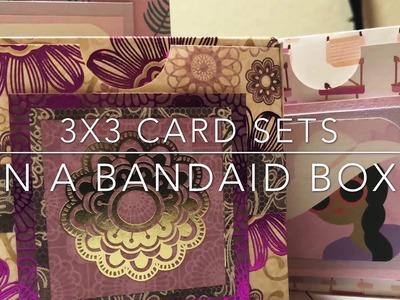 Craft Fair Series 2018- 3x3 cards in a Band Aid Style Box!
