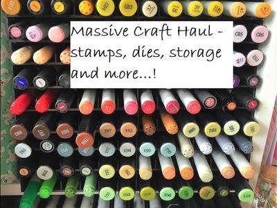 Craft haul from amazon, ebay, Tiger, Lidl, Hobbycraft, Sevenhillscrafts, poundland and more!
