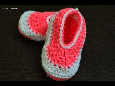 Crochet Baby Shoes-Crochet Baby Booties for 1-2 yrs-Crochet Baby Shoes-Crochet Baby Booties in Tamil