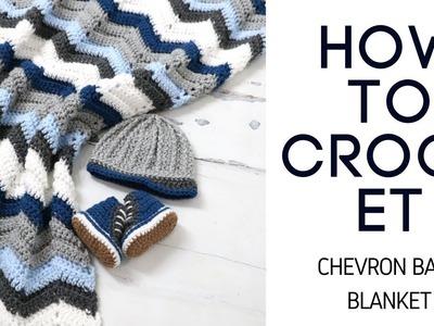 Crochet Easy Chevron Stitch Baby Blanket