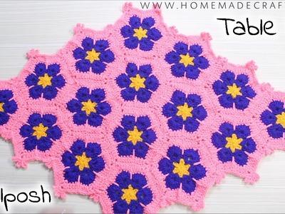 [Crochet] How to make a Table Mat. टेबल मैट कैसे बनाएँ | Thalposh - by Arti Singh