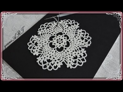 Crochet Lace DOILY Round Motif for Tablecloth.Part 1
