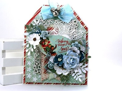 Day 10 of 12 Days of Christmas in July  Large Vintage Tag Polly's Paper Studio Authentique DIY Decor