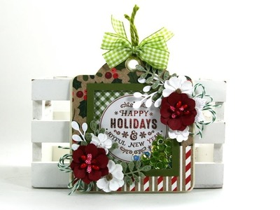 Day 12 of 12 Days of Christmas in July Shaker Tag Magnet Polly's Paper Studio Contest Closed