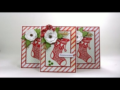 Day 7 of 12 Days of Christmas in July  One Card 3 Ways  Polly's Paper Studio Tutorial DIY Process