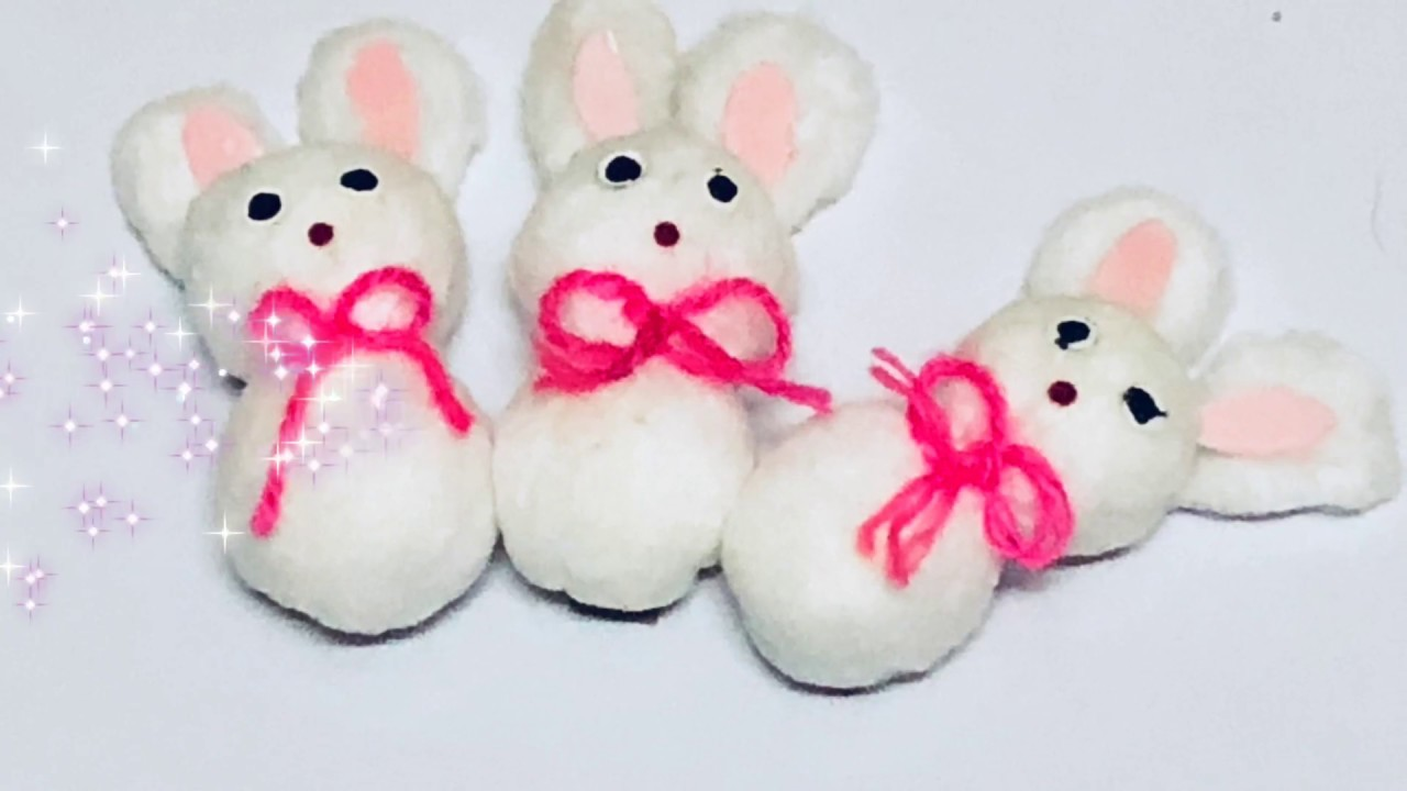 Diy Cotton Craft For Kids How To Make Cotton Ball Bunny Rabbit