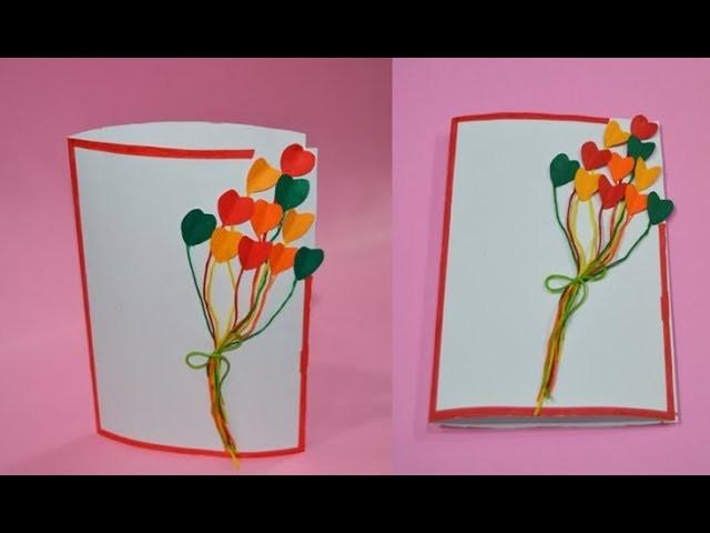 #DIY #Easy Flying Hearts #Greeting #Card | Eshanya Arts