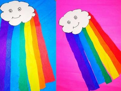 DIY - EASY PAPER PLATE RAINBOW CRAFT  HOW TO MAKE RAINBOW    CLOUD CRAFT   VIBGYOR