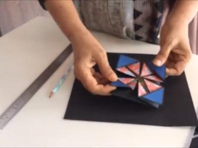 DIY-Napkin fold card tutorial for scrapbook|Cutest birthday scrapbook|How to make card for scrapbook