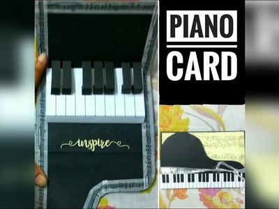 DIY - Piano Card | Pop Up Card Tutorial | Gift Idea For Music Lovers