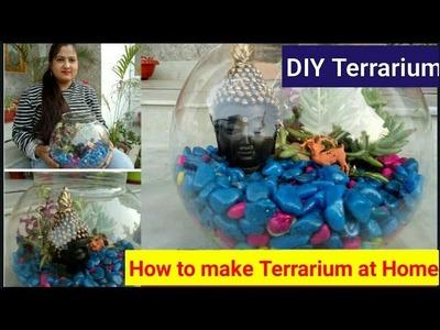 DIY terrarium.How to make terrarium at home 2018.टेरारियम कैसै बनायें.What is terrarium?