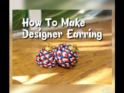 DIY Tutorial.How to Make designer silk Thread Jhumka. .