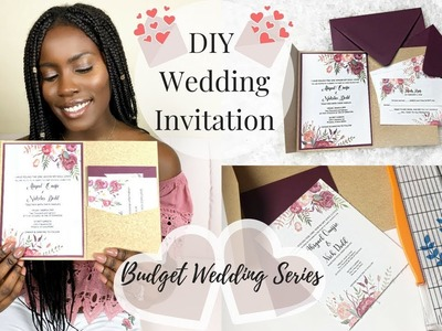 DIY Wedding | How To DIY Wedding Invitations With Pockets | Spring Wedding