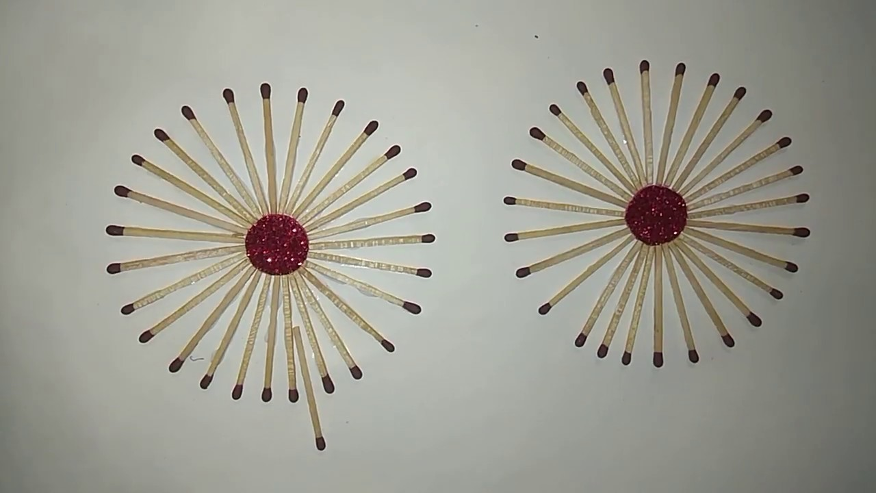 Drawing With Matchsticks Easy Craft Activity For Kids