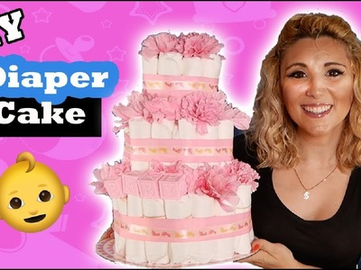 Easy DIY Diaper Cake Tutorial l Baby Shower Idea - Episode 29