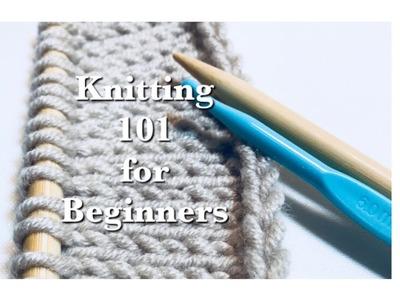 Easy knitting basics for beginners | Knitting 101: How to cast on using a crochet hook | #1