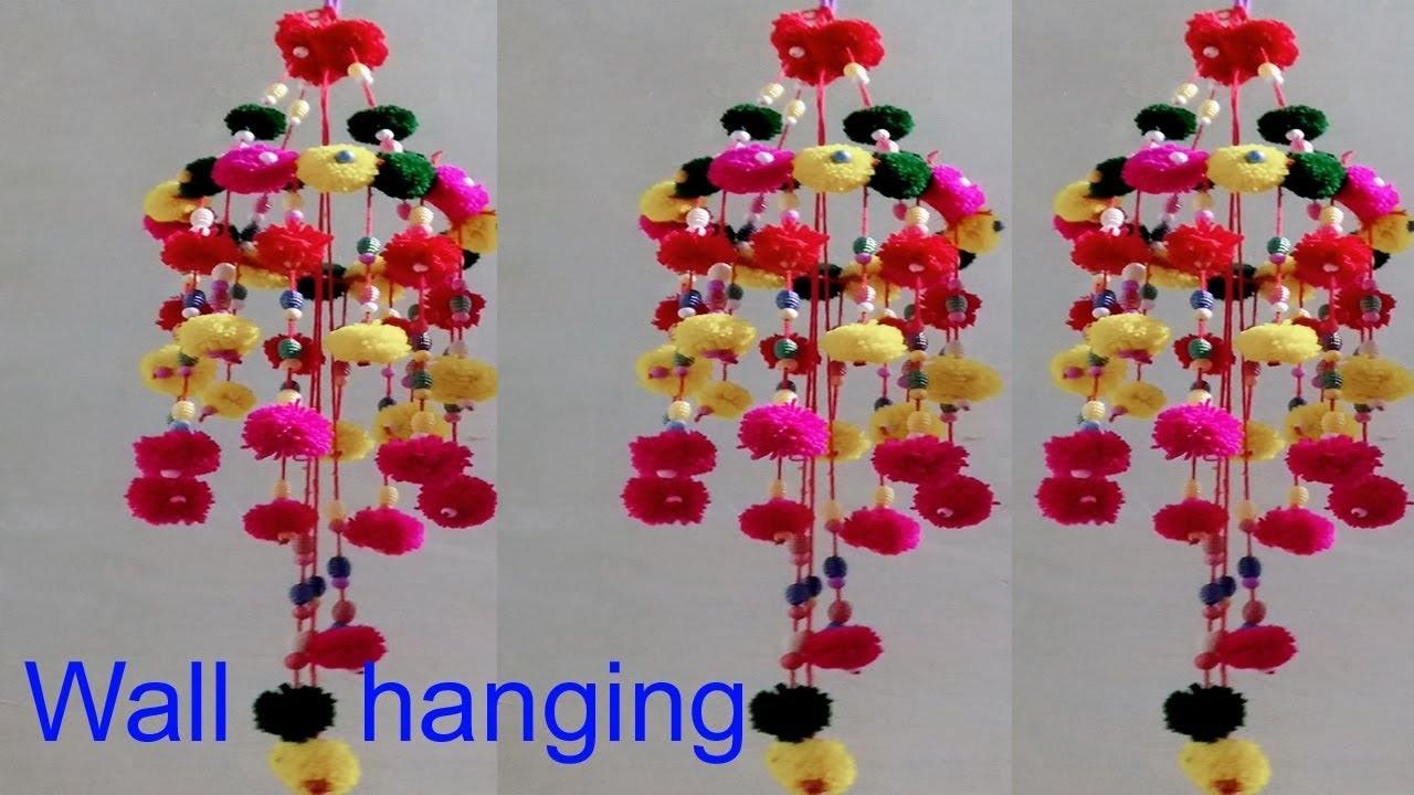 Handmade Ceiling Hanging Design Diy Wool Craft Wall Hanging Idea Diy