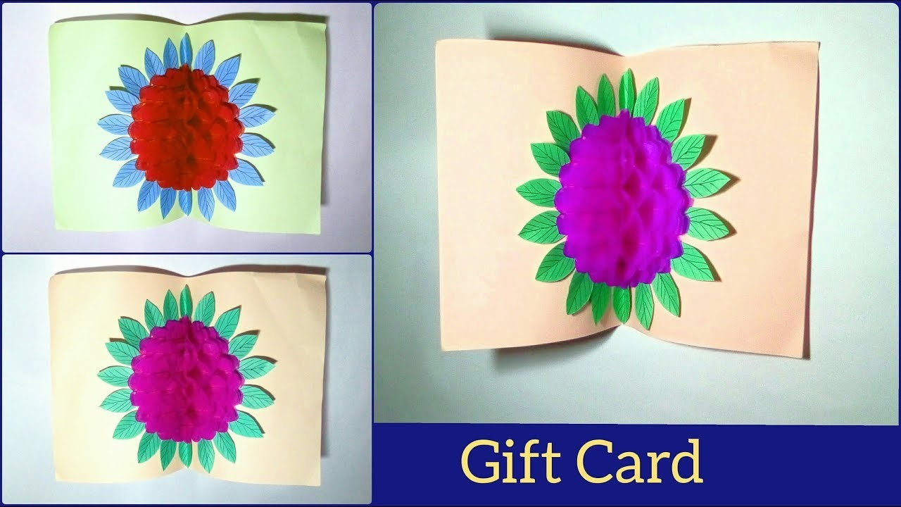 Handmade Gift Card Using Craft Paper How To Make A Paper Pop Up