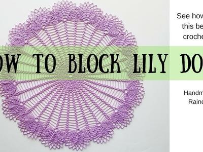 How to block crochet doily