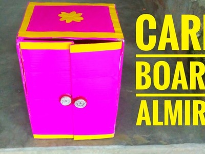How to make a beautiful card board Almira.  Card board craft esy to make.  DIY