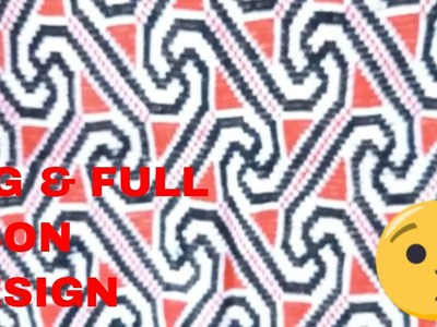 How To Make A Beautiful Woolen Cross Stitch Ason Design | Woolen Asan | Woolen Stitch | Ason Design