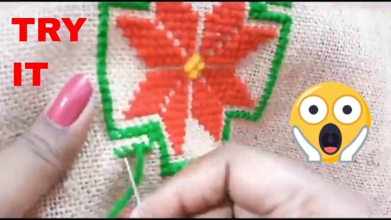 How To Make A Beautiful Woolen cross Stitch Ason Design | Woolen Asan, Woolen stitch  DIY